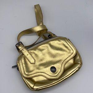 Liebeskind Berlin Gold Leather Crossbody Bag